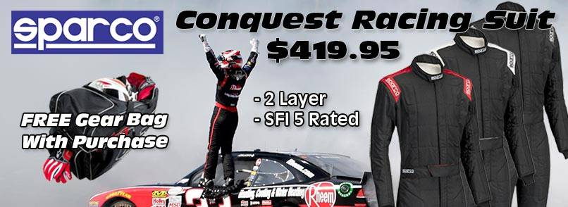 Sparco Conquest Racing Suit Promotion
