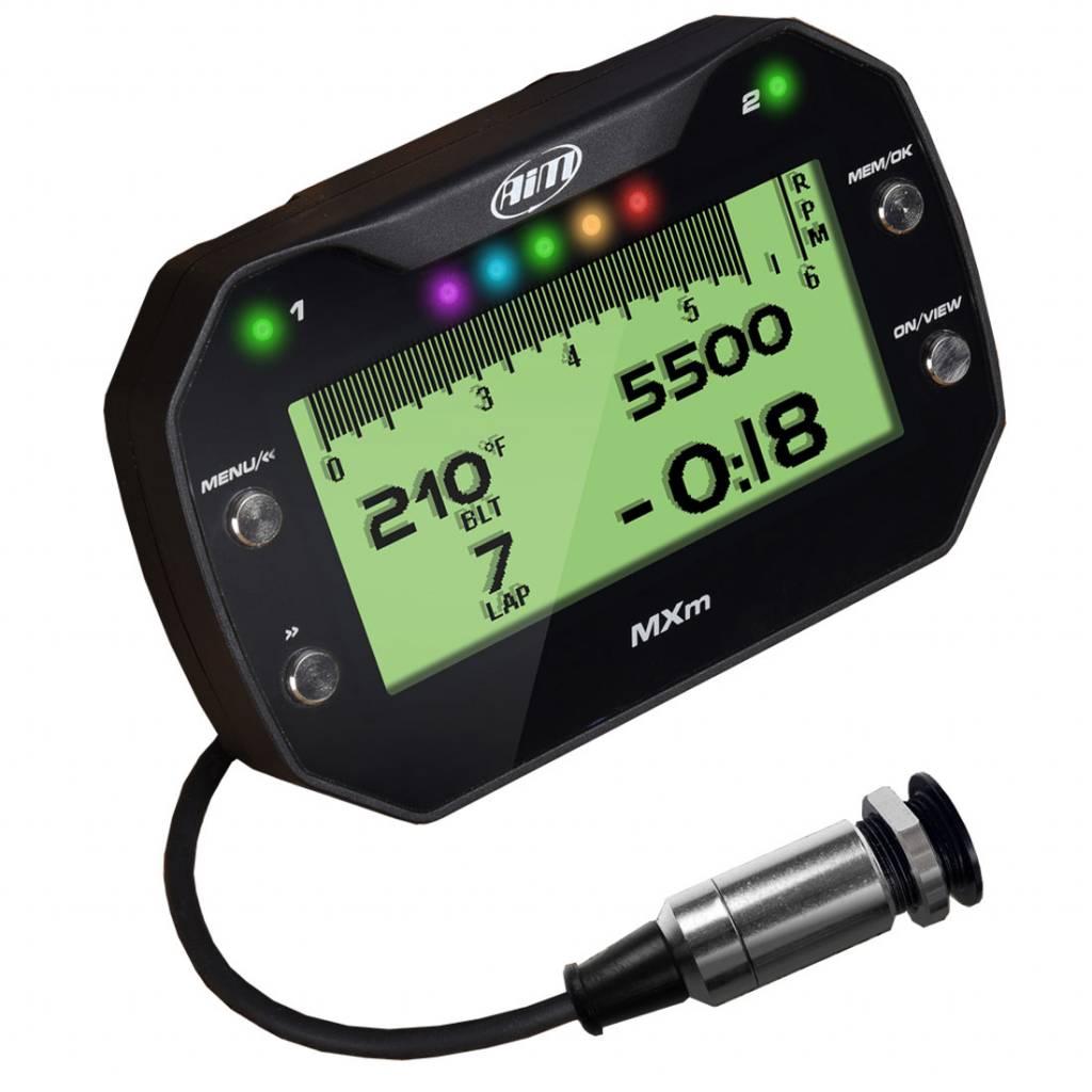 AIM MX UTV Dash with Belt Temperature Monitor