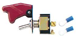 Longacre - Ignition switch w/ flip-up cover and 2 terminals