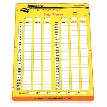 Longacre - Longacre Timing Scoring Sheets - Image 1