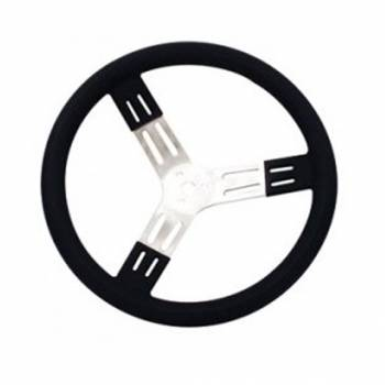 "Longacre - Longacre Steering Wheel 15"" Black Smooth Grip - Image 1"