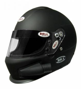 Bell - Bell BR-1 Off Road Forced Air, Small (57), Matte Black, Side Air
