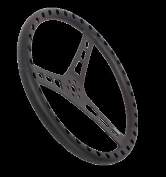 """Joes Racing - Joes 17"""" Dished Steering Wheel, Black - Image 1"""