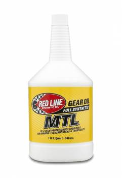 Red Line Synthetic Oil - Red Line MTL Synthetic Gear Oil - 75W80