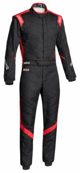 Sparco Closeout  - Sparco Victory RS7 Racing Suit Black/Red 62 - Image 1