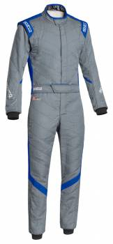 Sparco Closeout  - Sparco Victory RS7 Racing Suit Gray/Blue 60 - Image 1