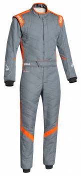Sparco Closeout  - Sparco Victory RS7 Racing Suit Gray/Orange 54 - Image 1