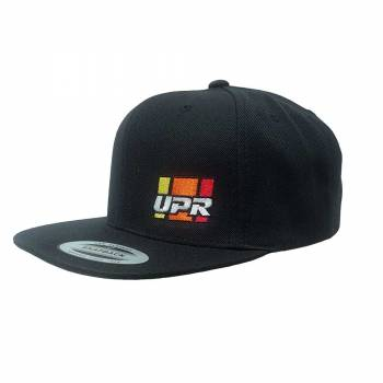 UPR - UPR Stripes Flat Bill Hat Black - Image 1