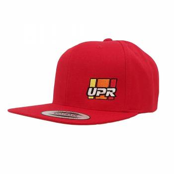 UPR - UPR Stripes Flat Bill Hat Red