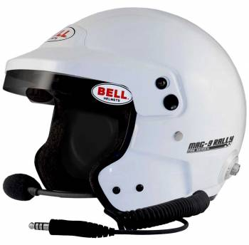 Bell - Bell Mag-9 Rally White Medium (58-59)