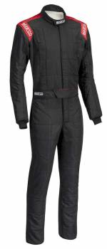 Sparco Closeout  - Sparco Conquest Racing Suit Black/Red Boot Cuff 66 - Image 1