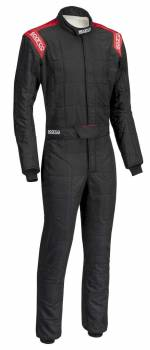 Sparco Closeout  - Sparco Conquest Racing Suit Black/Red Regular Cuff 52 - Image 1