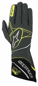 Alpinestars - Alpinestars Tech 1-KX Karting Gloves Anthracite/Black/Yellow Fluo Large - Image 1