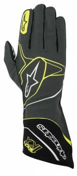 Alpinestars - Alpinestars Tech 1-KX Karting Gloves Anthracite/Black/Yellow Fluo X Large - Image 1