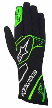 Alpinestars - Alpinestars Tech 1-K Karting Glove Black/Green Fluo Small - Image 1