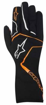 Alpinestars - Alpinestars Tech 1-K Race S Karting Glove Black/Orange Fluo Small - Image 1