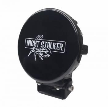 """Night Stalker Lighting - 7"""" Round LED Light Cover - Black - Image 1"""