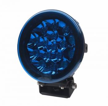 "Night Stalker Lighting - 7"" Round LED Light Cover - Blue - Image 1"
