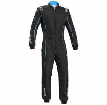 Sparco - Sparco Groove KS-3 Karting Suit Black/Celeste Large - Image 1