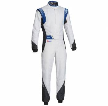 Sparco Closeout  - Sparco Eagle RS-8.2 Racing Suit White/Blue 52 - Image 1