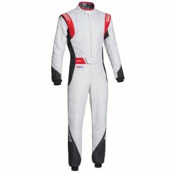 Sparco Closeout  - Sparco Eagle RS-8.2 Racing Suit White/Red 60 - Image 1