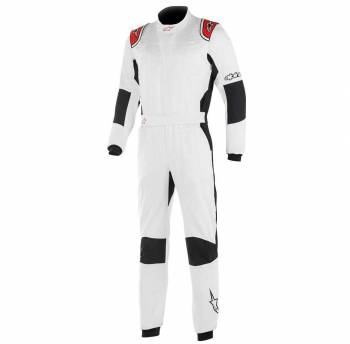 Closeout Alpinestars - Alpinestars Hypertech Racing Suit 44 White/Red - Image 1