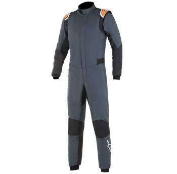 Closeout Alpinestars - Alpinestars Hypertech Racing Suit 46 Asphalt/Orange Flou - Image 1