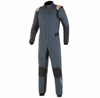 Closeout Alpinestars - Alpinestars Hypertech Racing Suit 60 Asphalt/Orange Flou - Image 1