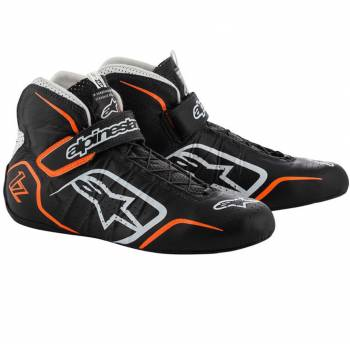 Alpinestars - Alpinestars Tech-1 Z Shoe 9.5 Black White/Orange Flou - Image 1