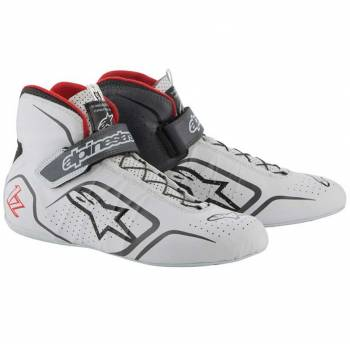 Alpinestars - Alpinestars Tech-1 Z Shoe 9 White/Grey/Red - Image 1