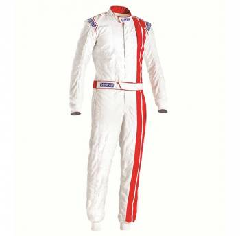 Sparco - Sparco Vintage Classic Racing Suit 60 White/Red - Image 1
