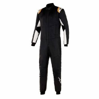 Alpinestars - Alpinestars Hypertech V2 Suit 50 Black White/Orange Flou - Image 1
