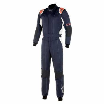 Alpinestars - Alpinestars GP Tech V3 Racing Suit  52 NAVY/RED FLUO - Image 1
