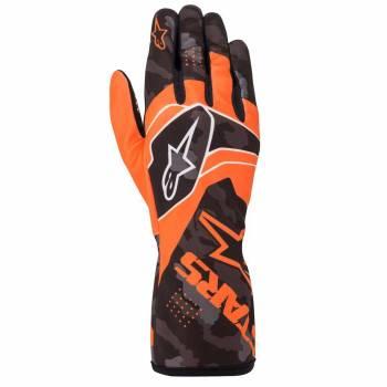Alpinestars - Alpinestars Tech-1 K Race V2 Karting Glove Camo XX Large Orange Flou/Black - Image 1