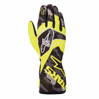 Alpinestars - Alpinestars Tech-1 K Race V2 Karting Glove Camo Large Yellow Flou/Black - Image 1