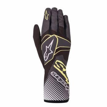 Alpinestars - Alpinestars Tech-1 K Race V2 Karting Glove Carbon Large Black/Lime Green - Image 1