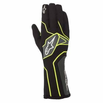 Alpinestars - Alpinestars Tech-1 K V2 Karting Glove Large Black/Yellow Flou/Anthracite - Image 1