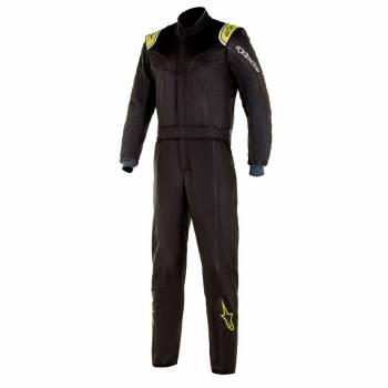 Alpinestars - Alpinestars Stratos Racing Suit 50 Black/Lime Green - Image 1