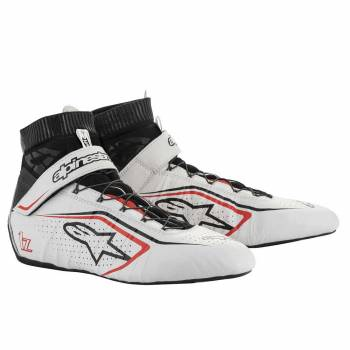 Alpinestars - Alpinestars Tech-1 Z V2 Racing Shoe 12.0 White/Black/Red - Image 1