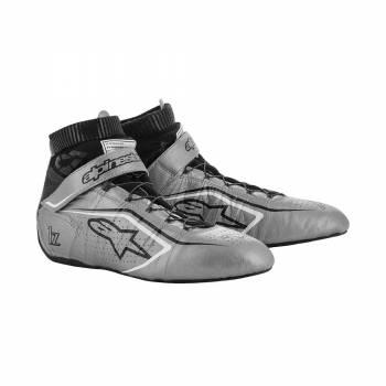 Alpinestars - Alpinestars Tech-1 Z V2 Racing Shoe 9.0 Silver/Black/White - Image 1