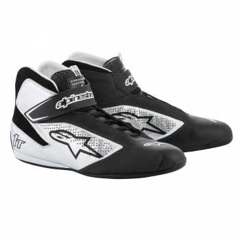 Alpinestars - Alpinestars Tech-1 T  Racing Shoe 8.5 BLACK/SILVER - Image 1