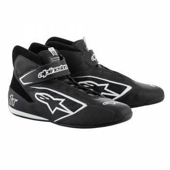 Alpinestars - Alpinestars Tech-1 T  Racing Shoe 8.5 BLACK/WHITE - Image 1