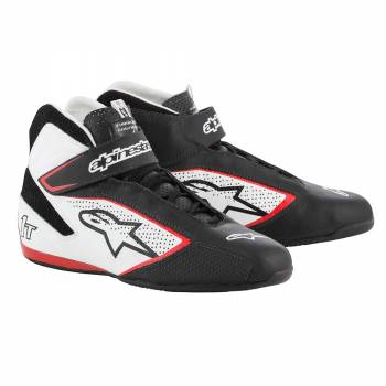 Alpinestars - Alpinestars Tech-1 T  Racing Shoe 8.0 BLACK/WHITE/RED - Image 1