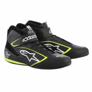 Alpinestars - Alpinestars Tech-1 T  Racing Shoe 10.5 BLACK/WHITE/YELLOW FLUO - Image 1