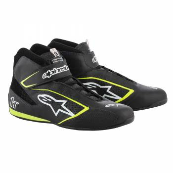 Alpinestars - Alpinestars Tech-1 T  Racing Shoe 11.0 BLACK/WHITE/YELLOW FLUO - Image 1