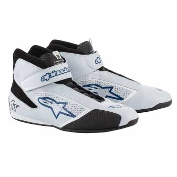 Alpinestars - Alpinestars Tech-1 T  Racing Shoe 8.0 SILVER/BLUE - Image 1
