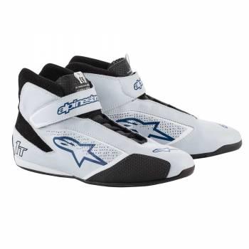 Alpinestars - Alpinestars Tech-1 T  Racing Shoe 8.5 SILVER/BLUE - Image 1