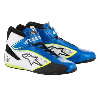 Alpinestars - Alpinestars Tech-1 T  Racing Shoe 10.0 BLUE/WHITE/YELLOW FLUO - Image 1