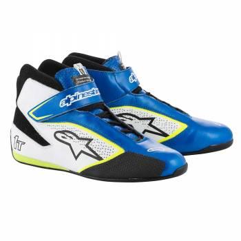 Alpinestars - Alpinestars Tech-1 T  Racing Shoe 10.5 BLUE/WHITE/YELLOW FLUO - Image 1