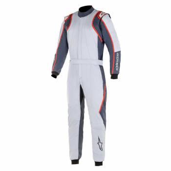 Alpinestars - Alpinestars GP Race V2 Racing Suit (FIA) 48 SILVER/ASPHALT/RED - Image 1